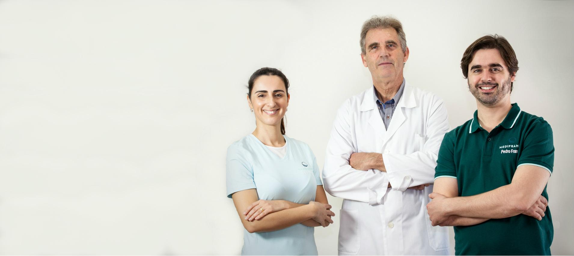 Equipa da clinica Medifranco em dentista e oftalmologista