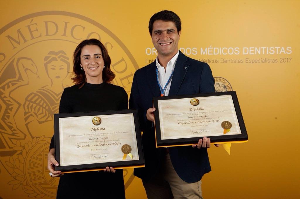 Helena Franco e Nuno Bangola recebem titulo da especialidade
